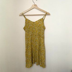 Day After Day Yellow Summer Mini Strap Dress